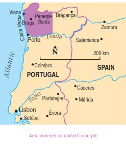Northern Portugal area map