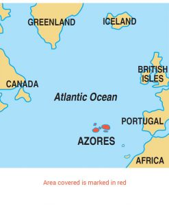 Azores area map