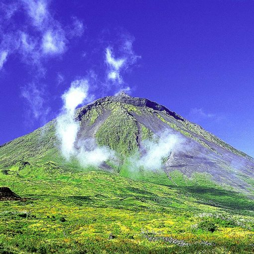 View of the summit of 2350m Pico on the Azores, Portugal