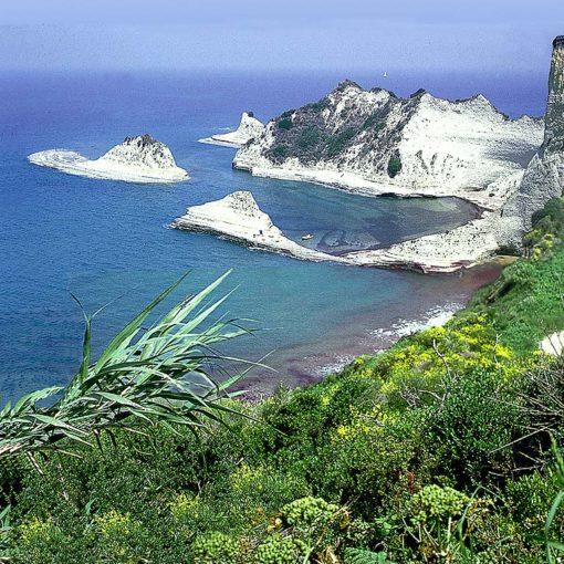 View over Cape Drastis on Corfu, Greece