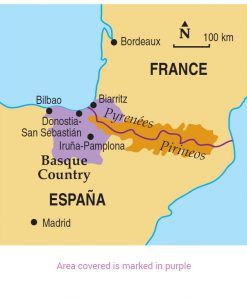 Basque area map