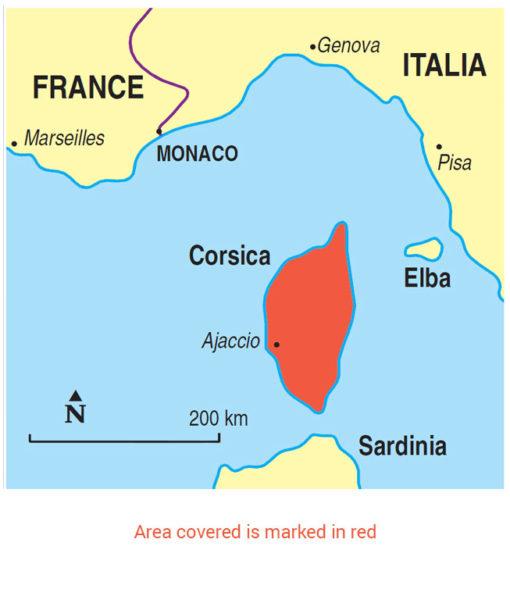 Corsica Area Map