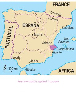 Map Of Spain Showing Costas.Walking In The Costa Blanca