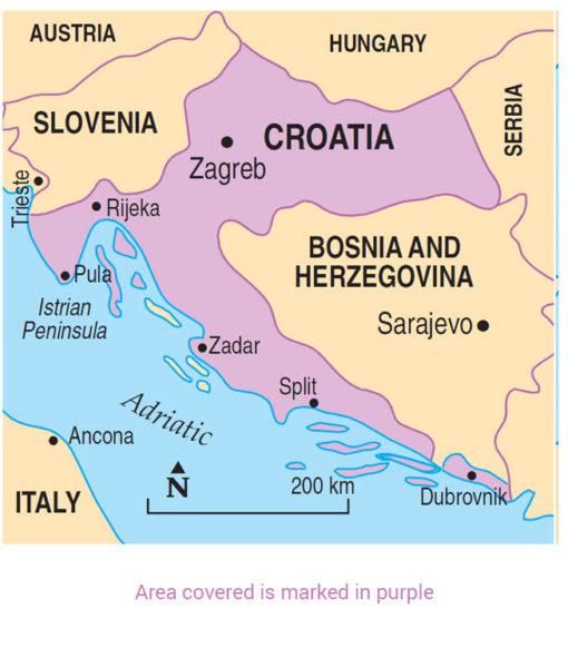Croatia Area Map