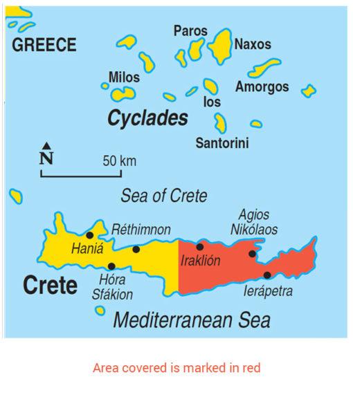 Eastern Crete Area Map