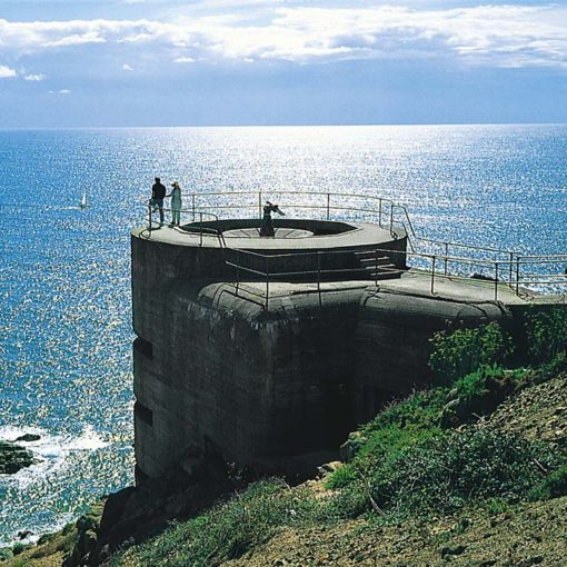 View of a relic of the occupation at Noirmont, Jersey, Channel Islands
