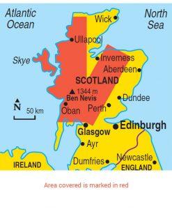 Scotland area map