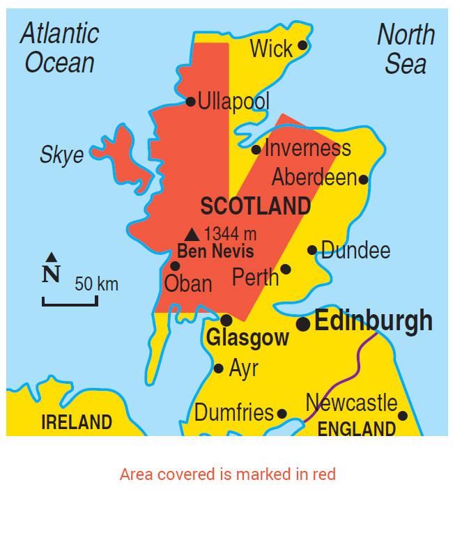 Map Of Uk Scotland And Ireland.Walking In Scotland