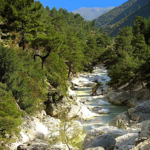 View of the river at Dereaǧzı, Turkey