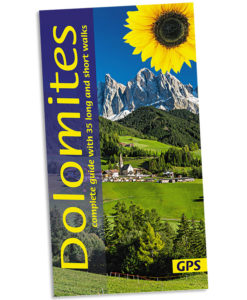 Walking in the Dolomites guidebook cover