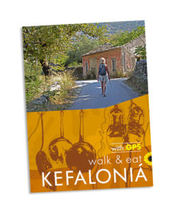 Kefalonia walking and eating guidebook cover