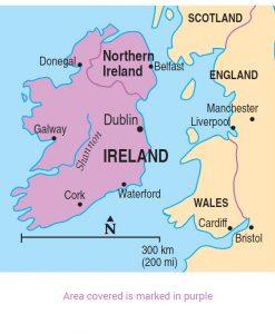 map of Ireland