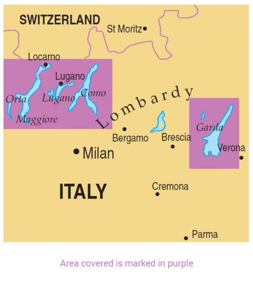 map of Italian Lakes