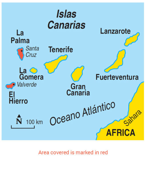 La Palma & El Hierro Area Map