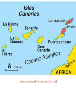 Lanzarote area map