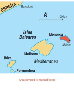 Menorca area map