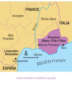 Provence area map