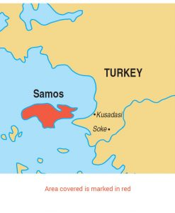 Samos area map