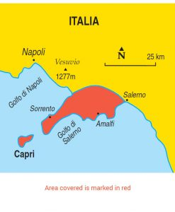 Sorrento and Amalfi area map