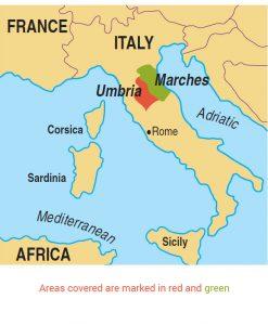Umbria area map