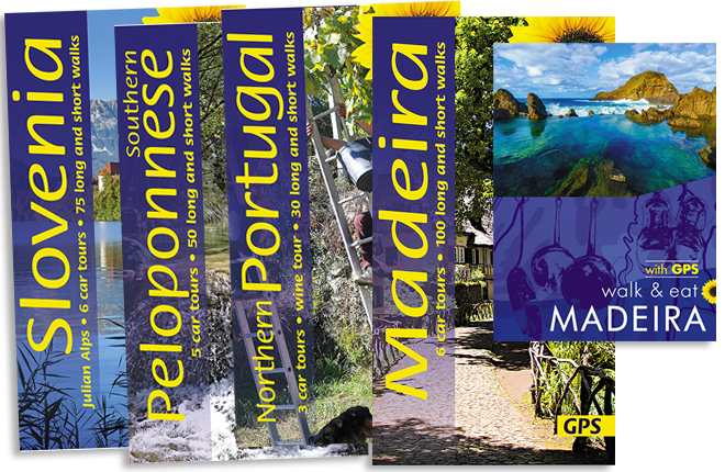 walking guidebook cover arrangement