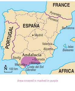 Map Of Spain Andalucia.Walking In Andalucia Guidebook 7 Car Tours 40 Walks Sunflower Books