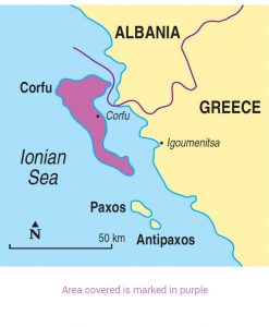 Corfu area map