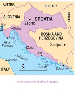 Croatia Area Map