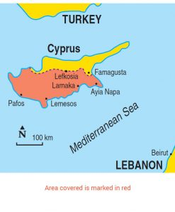 Cyprus area map