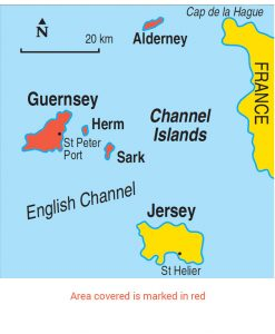 Guernsey Area Map