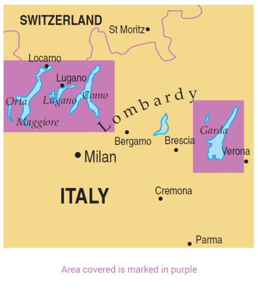 map of Italian Lakes