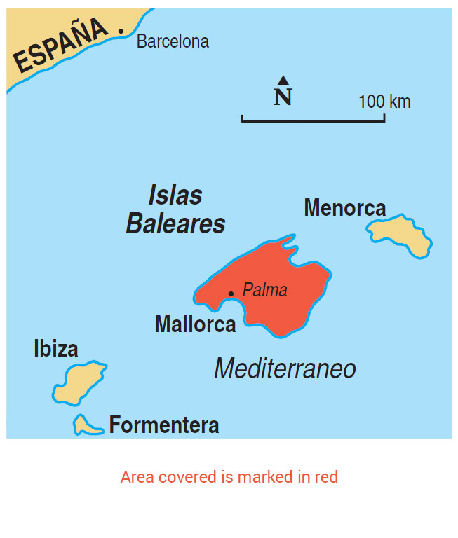 Mallorca area map