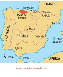 Picos de Europa area map