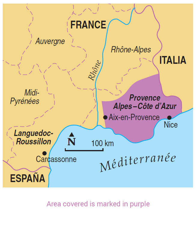 Provence Map Of France.Walking In Provence Guidebook 10 Car Tours 50 Walks Sunflower Books