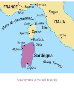Sardinia area map