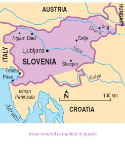 Slovenia area map
