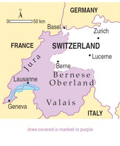 Switzerland area map