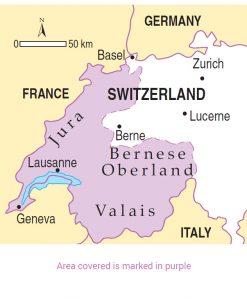 Switzerland area map