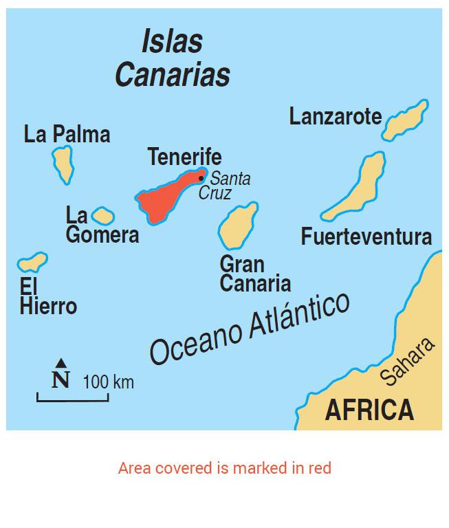 Tenerife area map