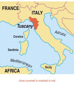 Tuscany area map