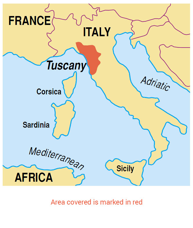 Tuscany Map Of Italy.Walking In Tuscany Guidebook 8 Car Tours 40 Walks Sunflower Books
