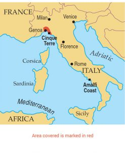 Italy Map Cinque Terre.Walking In The Cinque Terre And Riviera Di Levante