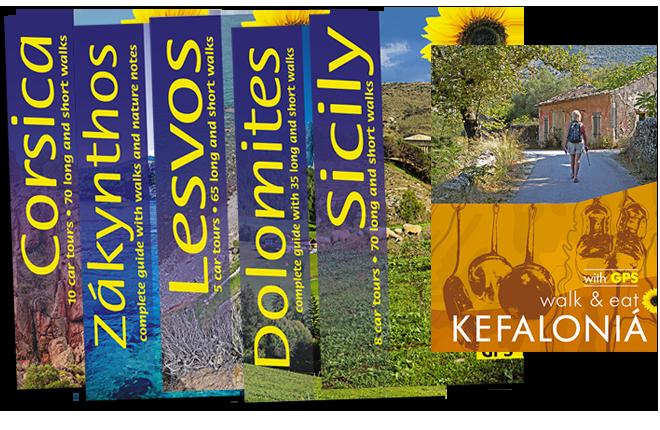walking guidebook covers