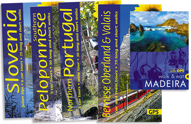 montage of guidebook covers